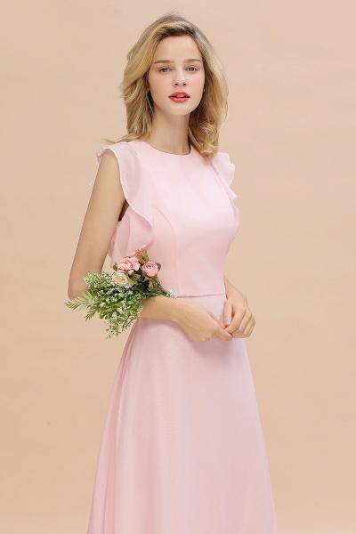 BM0783 Elegant Simple Jewel Sleeveless A-line Bridesmaid Dress_7