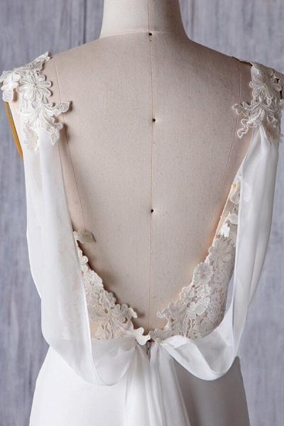 Affordable Ruffle Chiffon Sheath Wedding Dress_6