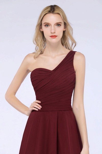 A-Line Chiffon One-Shoulder Sweetheart Sleeveless Knee-Length Bridesmaid Dress with Ruffles_42