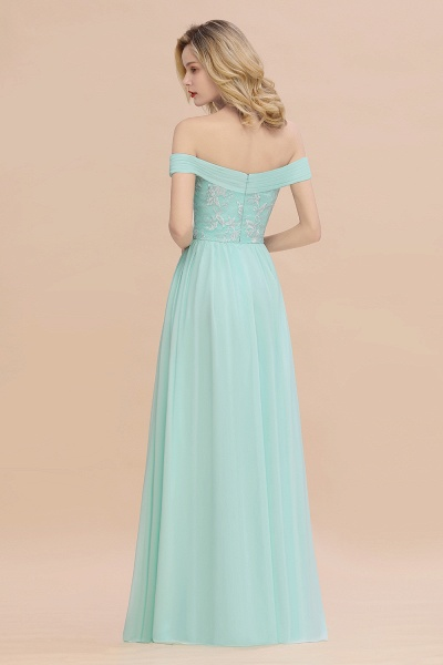 BM0754 Appliques A-line Sweetheart Ruffles Simple Bridesmaid Dress_2