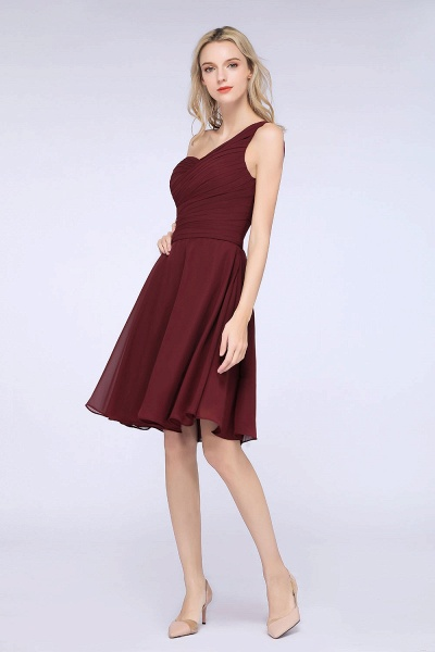 A-Line Chiffon One-Shoulder Sweetheart Sleeveless Knee-Length Bridesmaid Dress with Ruffles_40