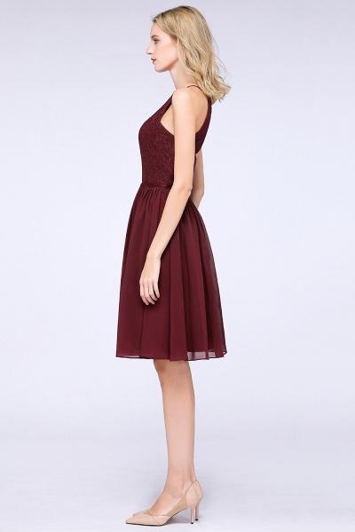 A-line Chiffon Lace Jewel Sleeveless Knee-Length Bridesmaid Dresses with Ruffles_54