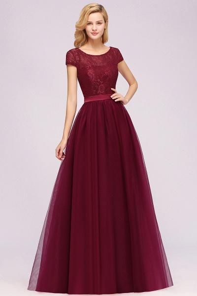 A-Line Chiffon Jewel Sleeveless Floor-Length Bridesmaid Dresses with Ruffles_3