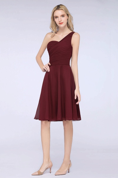 A-Line Chiffon One-Shoulder Sweetheart Sleeveless Knee-Length Bridesmaid Dress with Ruffles_38