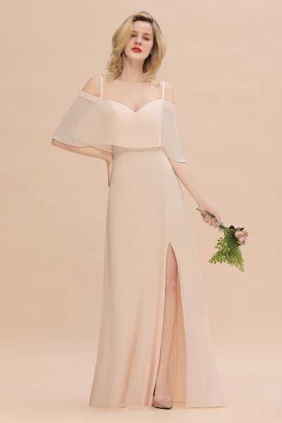 BM0759 Spaghetti Straps Side Split Bridesmaid Dress_1