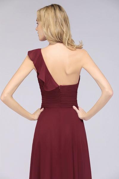A-Line Chiffon One-Shoulder Sweetheart Sleeveless Floor-Length Bridesmaid Dress with Ruffles_8