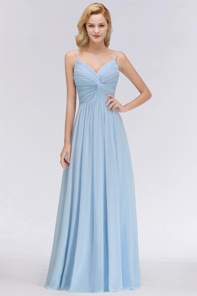 A-Line Chiffon V-Neck Spaghetti Straps Floor-Length Bridesmaid Dresses_1