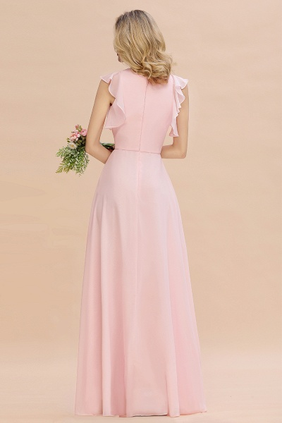 BM0783 Elegant Simple Jewel Sleeveless A-line Bridesmaid Dress_2