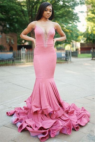 Fascinating Tulle Mermaid Evening Dress_1