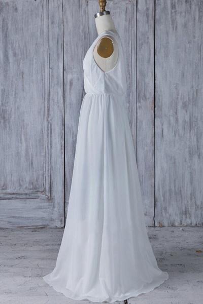 Elegant Ruffle Chiffon A-line Wedding Dress_4