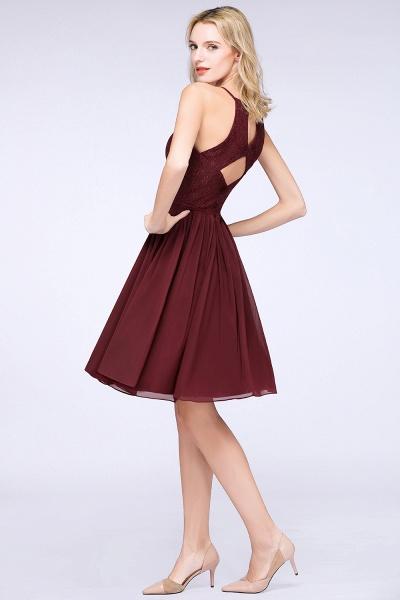 A-line Chiffon Lace Jewel Sleeveless Knee-Length Bridesmaid Dresses with Ruffles_52