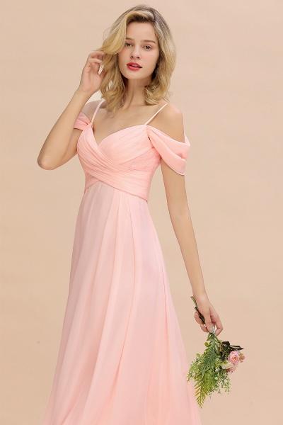 BM0786 Spaghetti Straps Sweetheart Ruffles Bridesmaid Dress_8