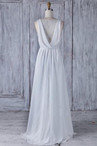 Elegant Ruffle Chiffon A-line Wedding Dress_3