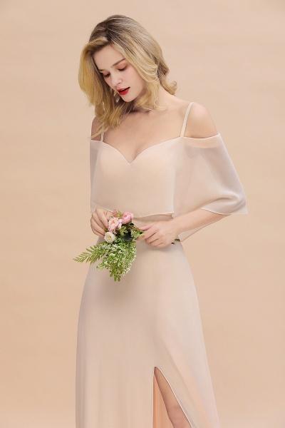 BM0759 Spaghetti Straps Side Split Bridesmaid Dress_8