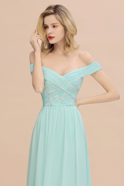 BM0754 Appliques A-line Sweetheart Ruffles Simple Bridesmaid Dress_7