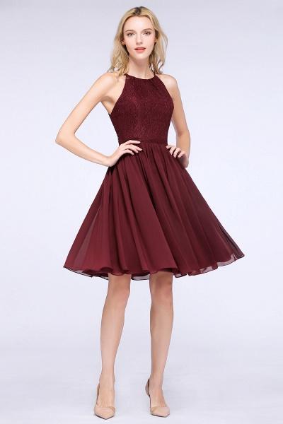 A-line Chiffon Lace Jewel Sleeveless Knee-Length Bridesmaid Dresses with Ruffles_53