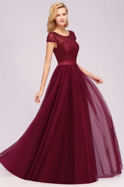 A-Line Chiffon Jewel Sleeveless Floor-Length Bridesmaid Dresses with Ruffles_1
