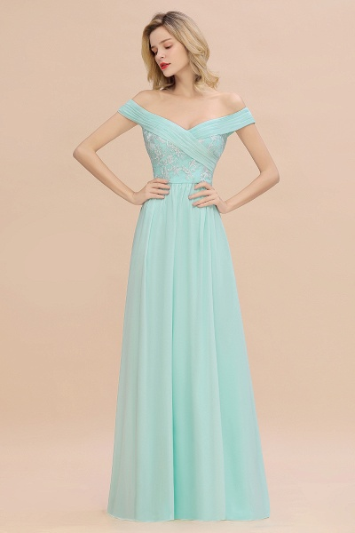 BM0754 Appliques A-line Sweetheart Ruffles Simple Bridesmaid Dress_3