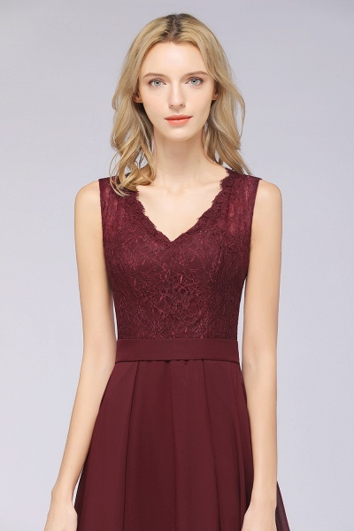 A-Line Chiffon Lace V-Neck Sleeveless Floor-Length Bridesmaid Dress_41
