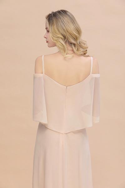 BM0759 Spaghetti Straps Side Split Bridesmaid Dress_9