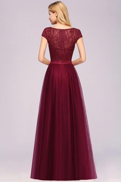 A-Line Chiffon Jewel Sleeveless Floor-Length Bridesmaid Dresses with Ruffles_2