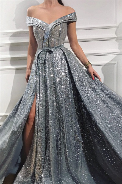 Beautiful Sweetheart Sequined A-line Prom Dress_1