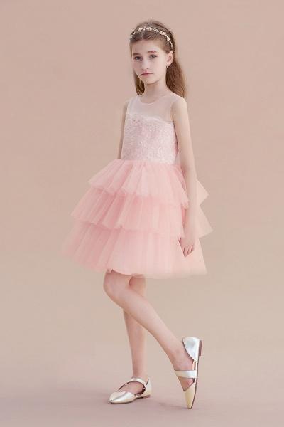 Graceful Layered Tulle Flower Girl Dress_6