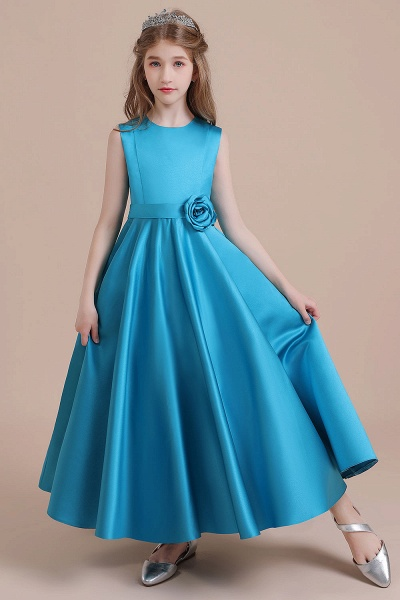 Awesome Satin A-line Flower Girl Dress_7