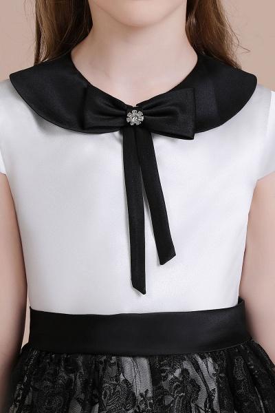 Cute Lace Cap Sleeve A-line Flower Girl Dress_7