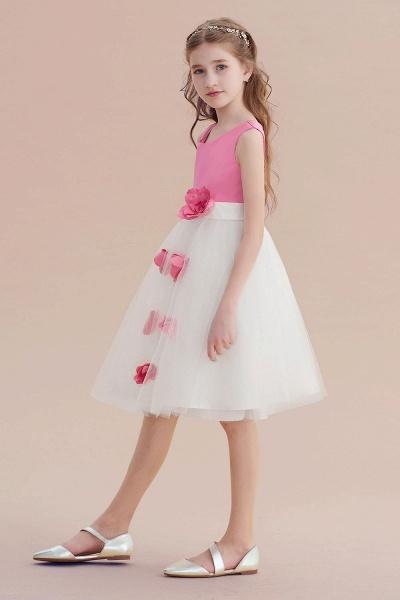 Affordable Tulle A-line Flower Girl Dress_3