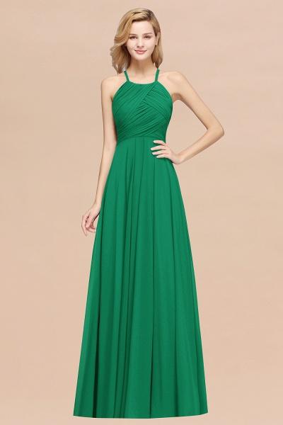 A-Line Chiffon Halter Ruffles Floor-Length Bridesmaid Dress_49