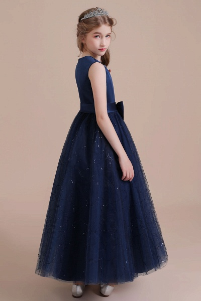 Chic Bow Tulle A-line Flower Girl Dress_6