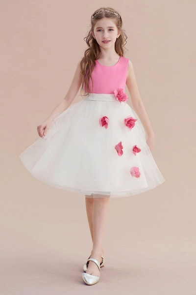 Affordable Tulle A-line Flower Girl Dress_1