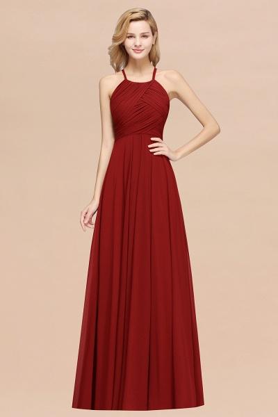 A-Line Chiffon Halter Ruffles Floor-Length Bridesmaid Dress_48