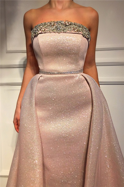 Exquisite Strapless Sequined Prom Dress_2