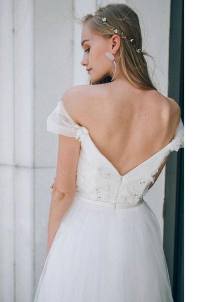 Sweetheart Beading Tulle A-line Wedding Dress_10