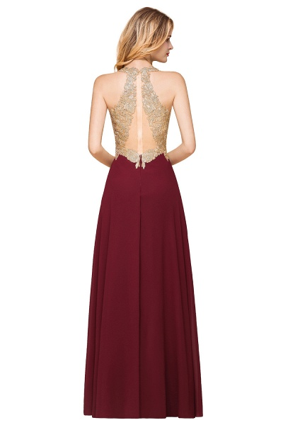 Awesome V-neck Chiffon Evening Dress_11