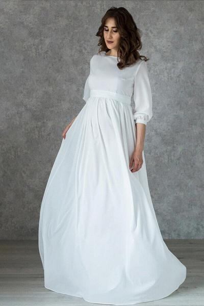 Awesome Floor Length Chiffon Wedding Dress_1