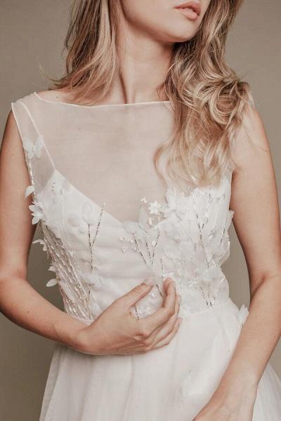 Eye-catching Beading Tulle A-line Wedding Dress_8