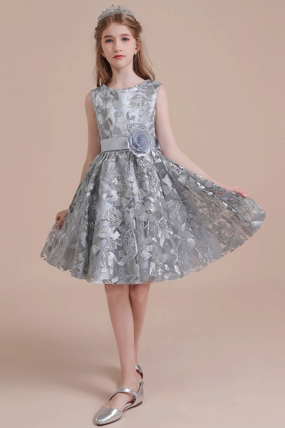 Chic Bow A-line Tulle Flower Girl Dress_6