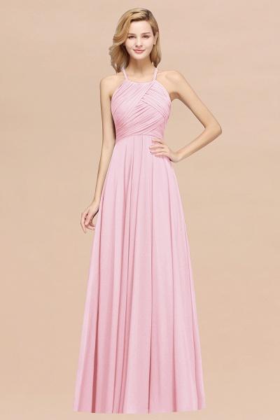 A-Line Chiffon Halter Ruffles Floor-Length Bridesmaid Dress_4