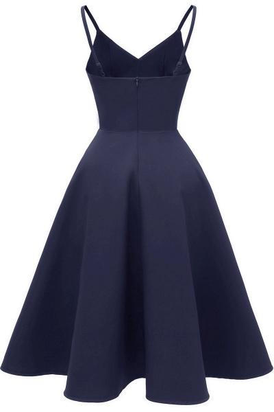 Trendy Spaghetti Straps Sleeveless Princess Vintage Dresses | Womens Retro V-neck Burgundy Cocktail Dress_17