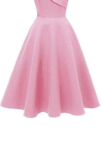 Trendy Spaghetti Straps Sleeveless Princess Vintage Dresses | Womens Retro V-neck Burgundy Cocktail Dress_10