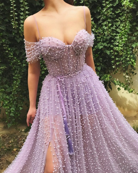 Beautiful Sweetheart Tulle A-line Prom Dress_2