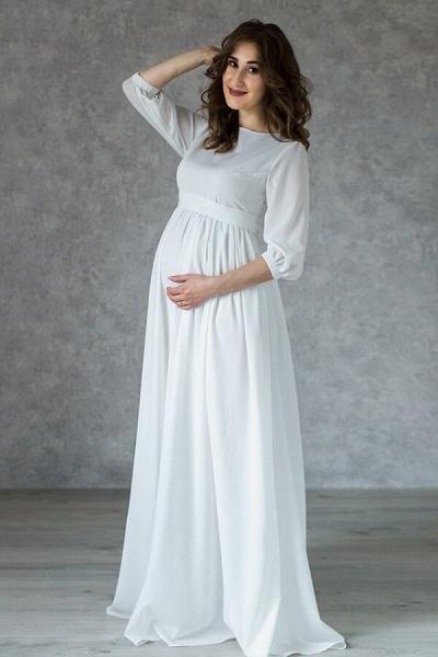Awesome Floor Length Chiffon Wedding Dress_5