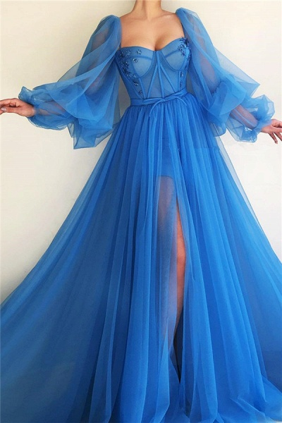Awesome Sweetheart Tulle A-line Prom Dress_1