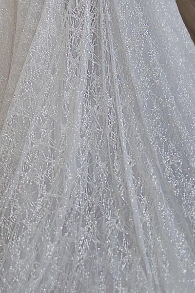 Amazing Off-the-Shoulder A-line Wedding Dress_6