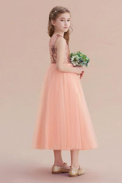 Graceful Sequins Tulle A-line Flower Girl Dress_7