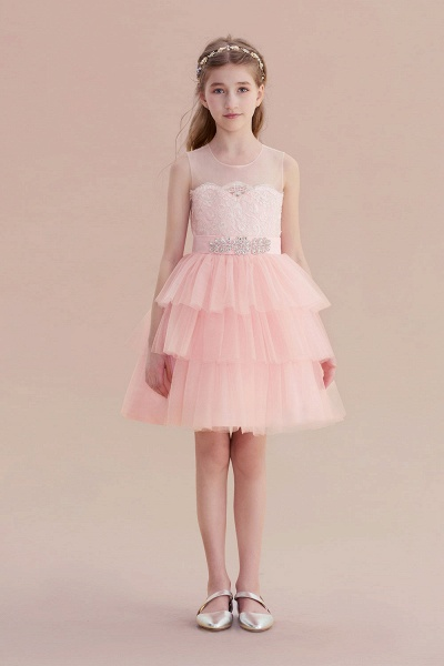 Graceful Layered Tulle Flower Girl Dress