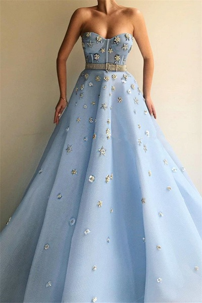 Eye-catching Sweetheart Tulle A-line Prom Dress_1